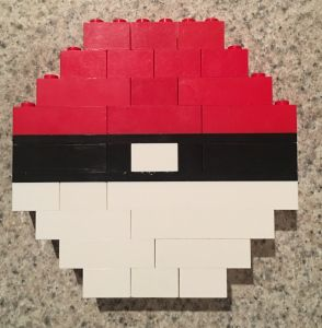 Pokemon Go Ball made from Lego Bricks