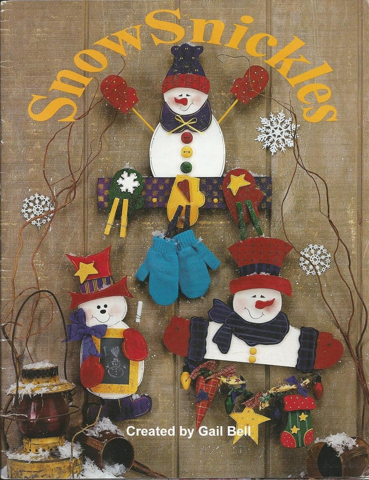 Snow Snickles by Gail Bell Decorative Tole Painting Craft Book
