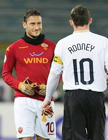 Rooney vs Totti