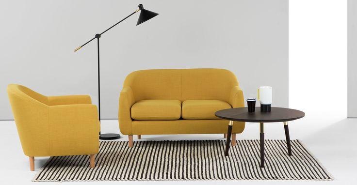Tubby 2 Seater Sofa, Citrus Green | made.com