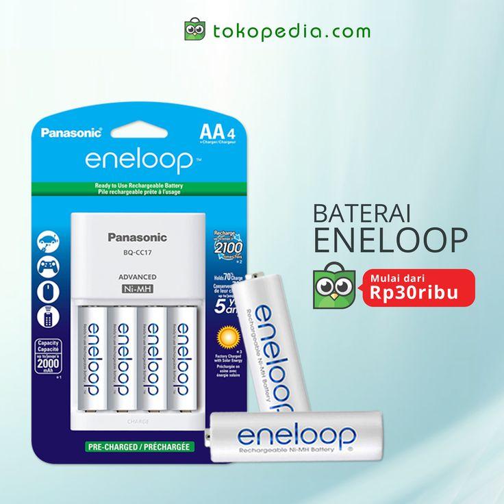 Baterai Eneloop mulai dari Rp 30.000,- di https://www.tokopedia.com/hot/baterai-eneloop