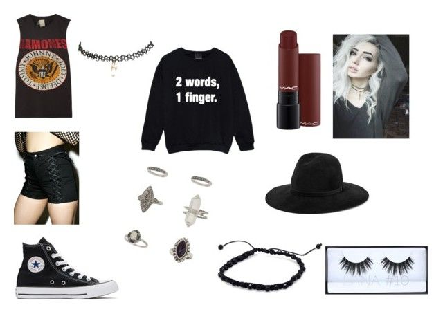 """Haley's outfit"" by reganeliza on Polyvore featuring Tripp, Wet Seal, MadeWorn, Converse, rag & bone, Miss Selfridge and Huda Beauty"