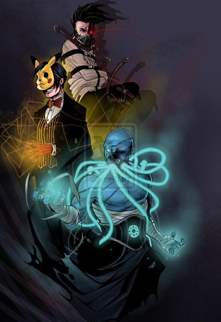 I love this picture, they are my three favorite narrators (Top to bottom) CreepyPastaJr, CreepsMcPasta, MrCreepyPasta