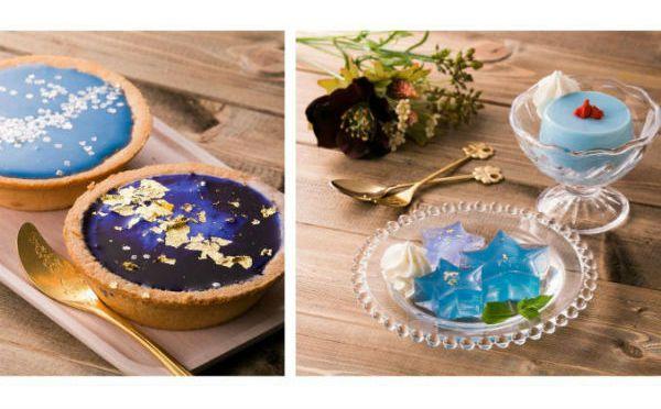 テーブルが「青の魔法」でフォトジェニックに☆世界初・天然由来の濃縮液でどんな食べ物も青色に!
