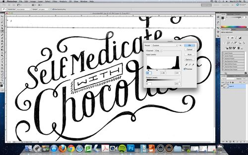 How to: Hand-drawn type in Photoshop