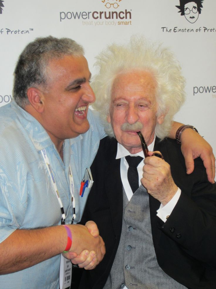 Power Crunch brought Einstein along to the show. Natural Products Expo West
