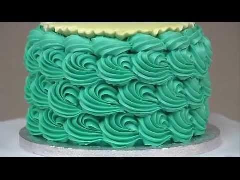 Buttercream cake decorating techniques.