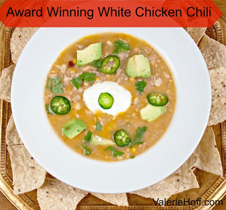 Award Winning White Chicken Chili: This recipe won a Chili Cookoff Recipe in Atlanta, GA in 2004 I was pregnant with my son, who is now 10. The whole family loves it, and a couple of secret ingredients make it unique.
