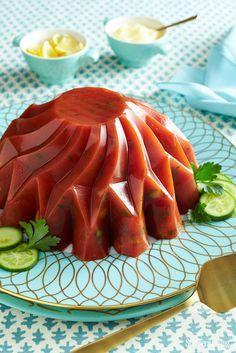 Áspic de tomate y pepino jello