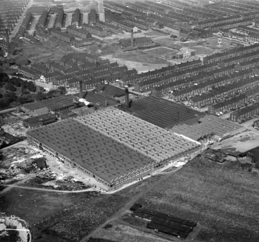 Montague Burton Ltd. Hudson Road Mills Burmantofts Leeds 1928 Part of the Aerofilms collection found on the Britain from Above site.