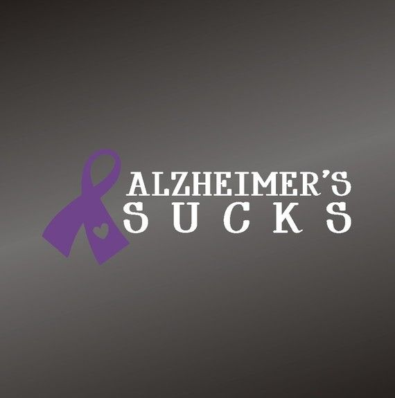 Alzheimer's Sucks  Vinyl Decal Sticker  Alzheimer's by gotdecalz, $7.99