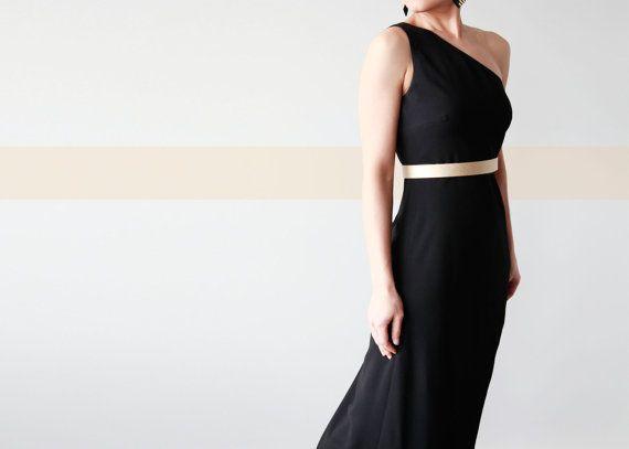 Gold waist belt bright gold women's dress belt by SurondStudio