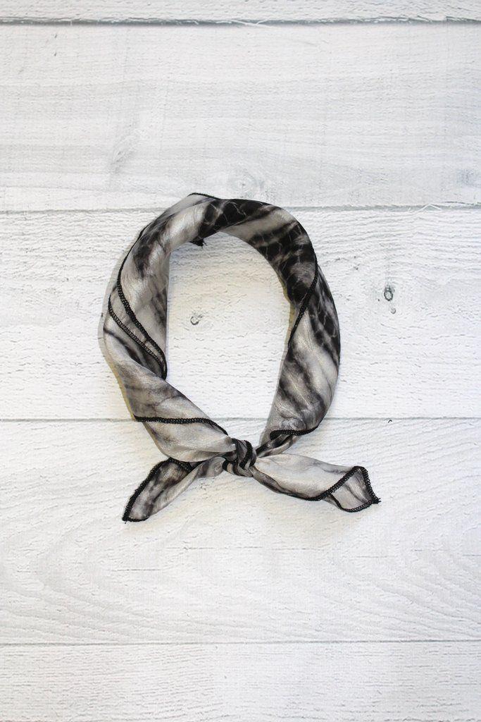 LOV Project Silk Python Print Bandana Scarf
