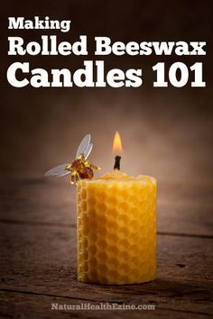 Making Rolled Beeswax Candles 101