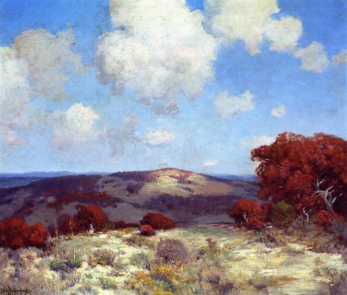 In the Hills of the Spanish Oaks - Onderdonk Julian Robert