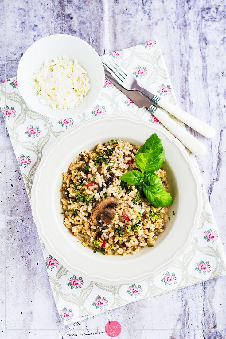 Risotto z pieczarkami czyli #przepis na #obiad w wersji #vegetarian #vege #pieczarki #risotto