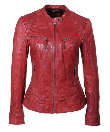 Rote Lederjacke von S.Oliver #red #fall #fashion #engelhorn