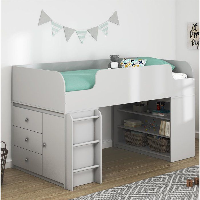 Camaflexi Concord Cappuccino Full Size Junior Loft Bed T1302f Junior Loft Beds Low Loft Beds Loft