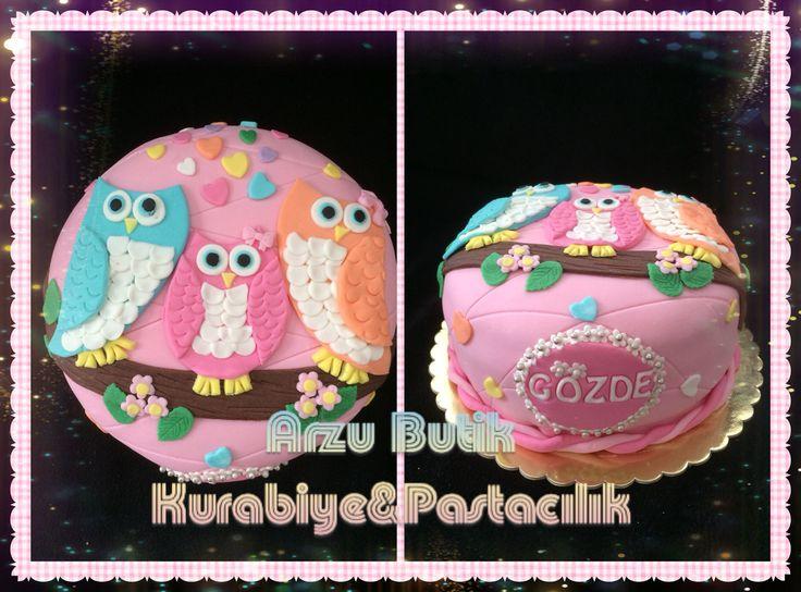 Baykuşlu pasta