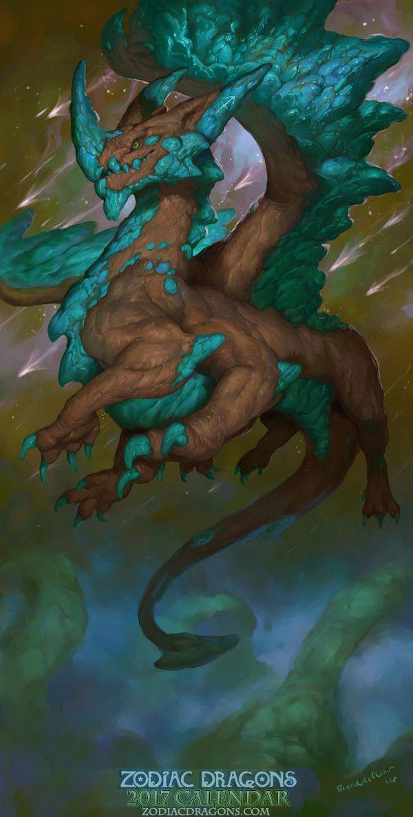 ArtStation - 2017 Zodiac Dragons Calendar - Zodiac Dragon Sagittarius, Christina Yen