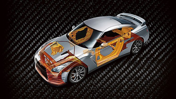 2015 NISSAN GTR®'s Hybrid Body Structure. Nissan gtr
