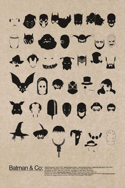 :: In order: Alfred, Azrael, Bane, Batgirl, Batman, Batwoman, Black Mask, Calender Man, Catwoman, Clayface, Deadshot, Harley Quinn, Professor Hugo Strange, Hush, Jim Gordon, Joker, Killer Croc, Killer Moth, Knight, Mad Hatter, Maxie Zeus, Man-Bat, Mr Freeze, Nightwing, Talon, Penguin, Poison Ivy, Professor Pyg, Ra's al Ghul, Red Hood (criminal), Red Hood (Jason Todd), Red Robin, The Riddler, Robin, Scarecrow, Squire, Solomon Grundy, Two-Face, The Ventriloquist and Scarface ::