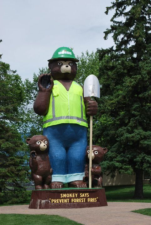 Smokey Bear Celebrating Boise Cascade's 100th Year