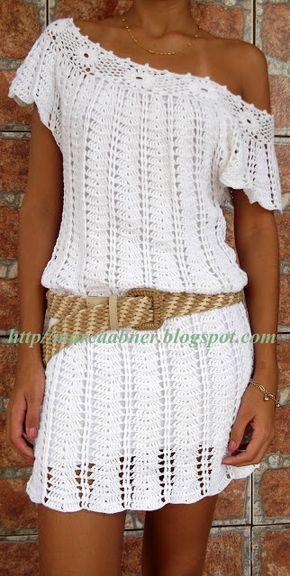 Marcinha crochê: vestidos de crochê crochet shirt or dress