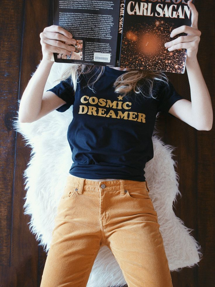 - Cosmic Dreamer Tee - Available in Black - Sizes S, M, L - 50% Polyester/ 50% Cotton - Made and Printed in USA