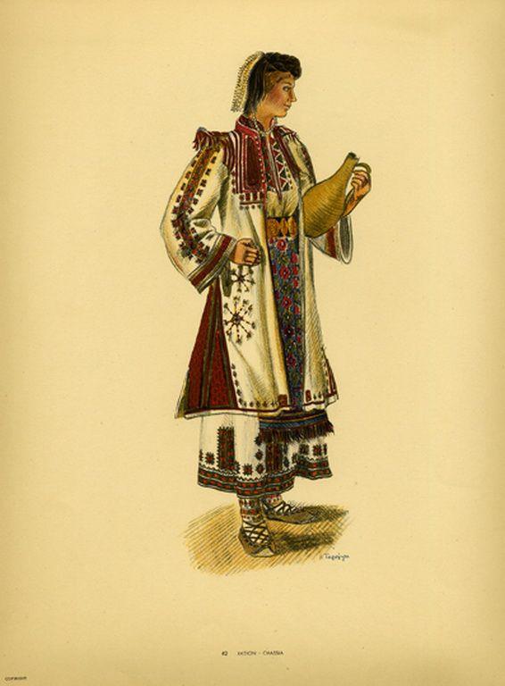 Φορεσιά Χασίων. Costume from Chassia. Collection Peloponnesian Folklore Foundation, Nafplion. All rights reserved.