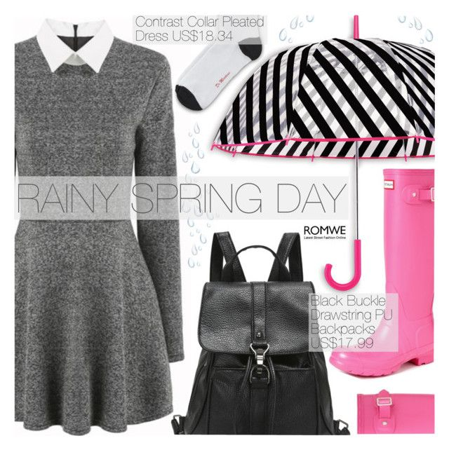 """""""Street Style"""" by pokadoll ❤ liked on Polyvore featuring Kate Spade, Dr. Martens, Hunter and romwe"""