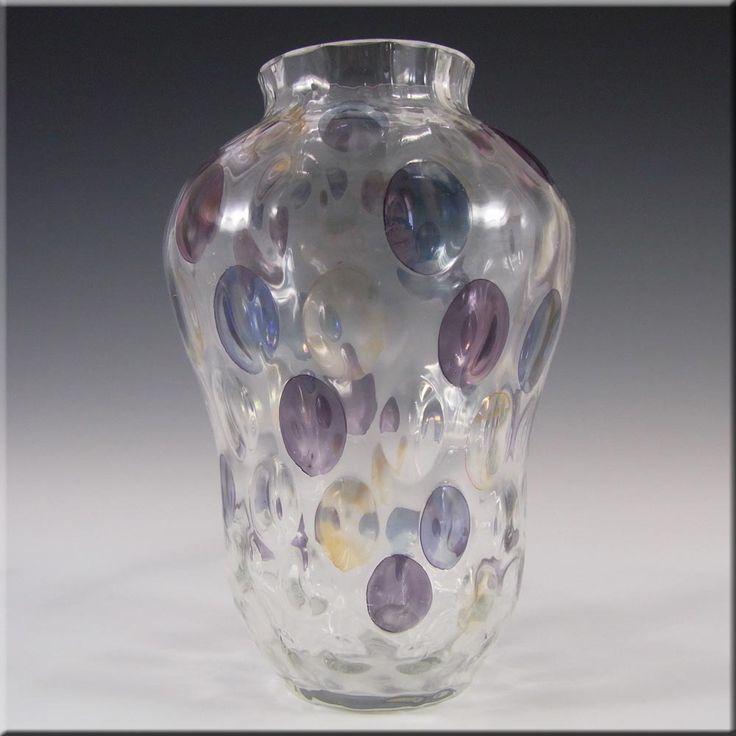 Borske Sklo 1950's Glass 'Nemo' Vase - Max Kannegiesser - £24.99