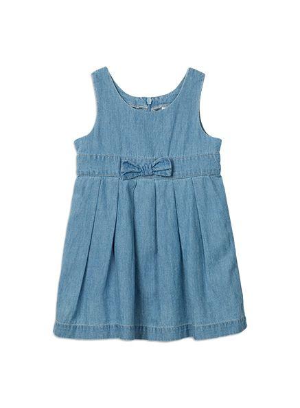 Charlie&me - dresses - chambray dress - W5CF80002 - chambray - 0-3m to 2