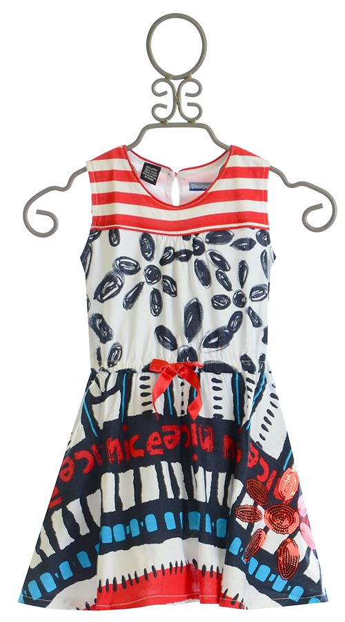Desigual Red White and Blue Dress for Girls $52.00