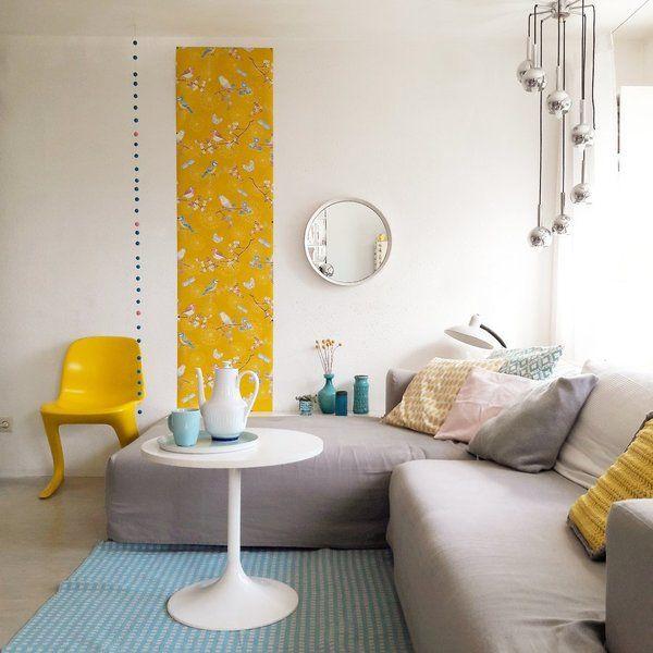 Die besten 25+ Wandgestaltung gelb Ideen auf Pinterest Gelbe - wandgestaltung wohnzimmer orange