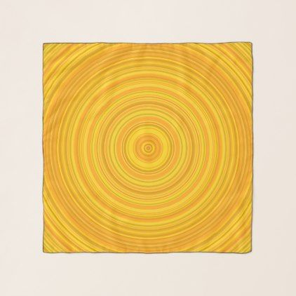 Yellow & Orange Circular Pattern Scarf - pattern sample design template diy cyo customize