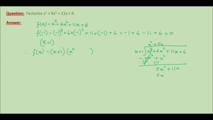Online Math Tutoring ---- Factorisation of Cubic Polynomials Part 1