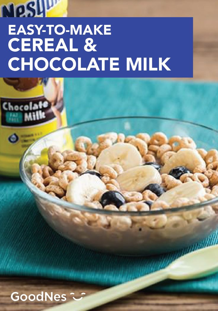 Cereal chocolate milk recipe fat free milk blueberry and bananas ccuart Gallery