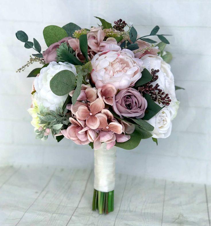 Brautstrau aus Kunstblumen in 2019  Brautstrue  Blumenstrau hochzeit Brautstrue und