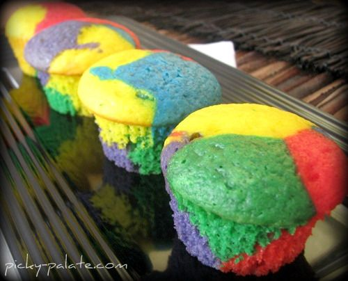 Rainbow Bright Cupcakes | Recipes | Pinterest