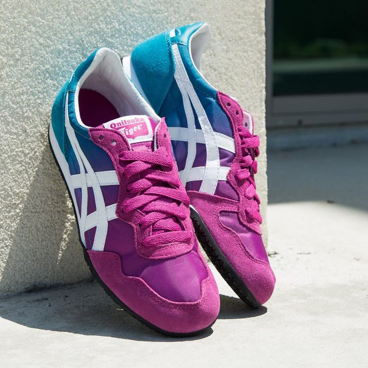 onitsuka tiger asics blue and pink