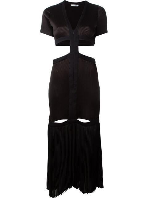 BARBARA CASASOLA pleated cut out detail zip up dress. #barbaracasasola #cloth #dress