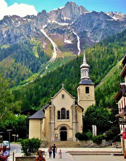 Chamonix, France, St. Michel Church, French Alps