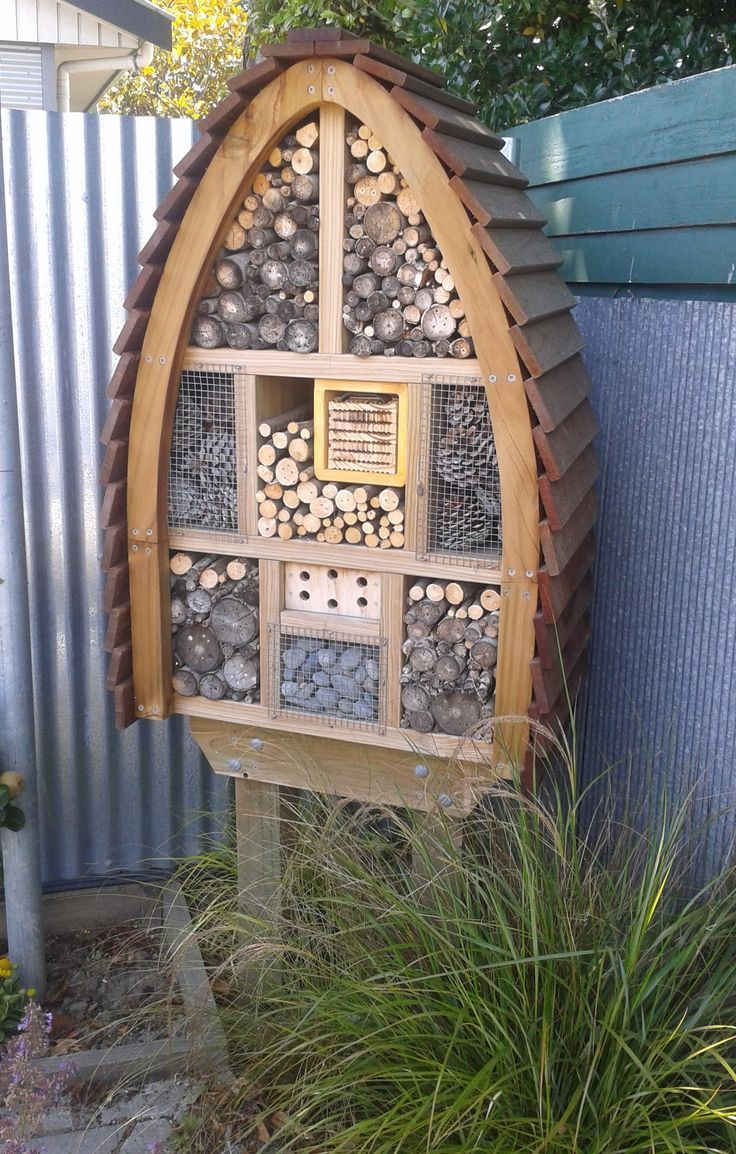 Insect Hotel:  European Tube Wasps and Leaf Cutters mainly nesting here in New Zealand.
