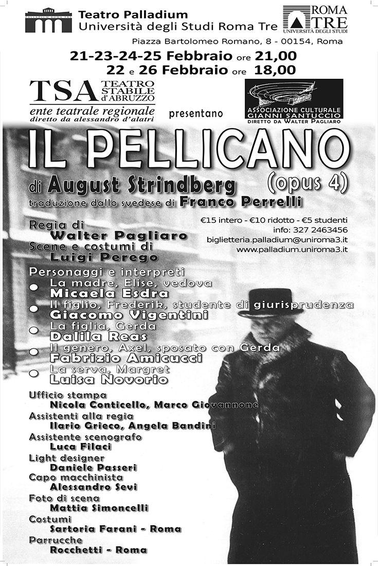"""Walter Pagliaro porta in scena """"Il Pellicano"""" di Strindberg al Palladium-Roma Tre Dal 21 al 26 febbraio! http://www.elisabettacastiglioni.it/eventi/308-pellicano.html"""