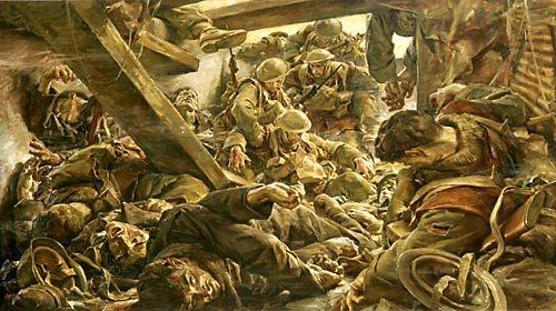 Rats and Scrap Iron / Ivor Hele Official War Artist