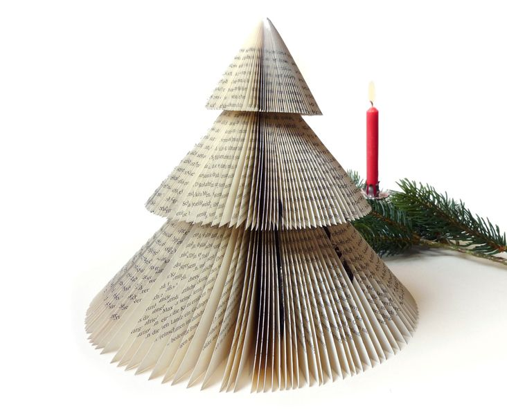 Recycled book christmas decoration - Ahoimeise