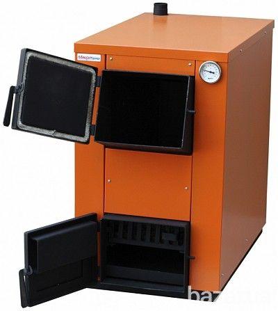 Твердотопливные котлы   Управление горением котла осуществляется механическим  теплорегулятором. Котел не утеплен. Поверхность окрашена в черный...