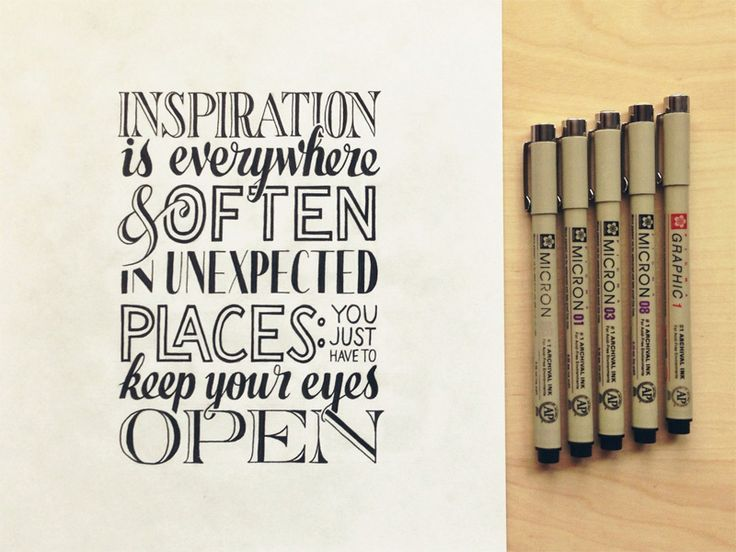 Inspiration Is Everywhere - by Sean McCabe. Hand lettering