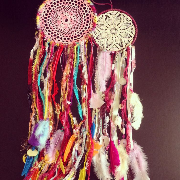 #dreamcatcher #doilies #upcycled #diy #craft